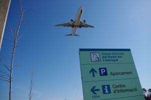 aviones en el parque del delta del llobregat