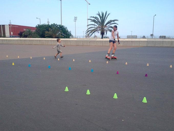 patinar en familia