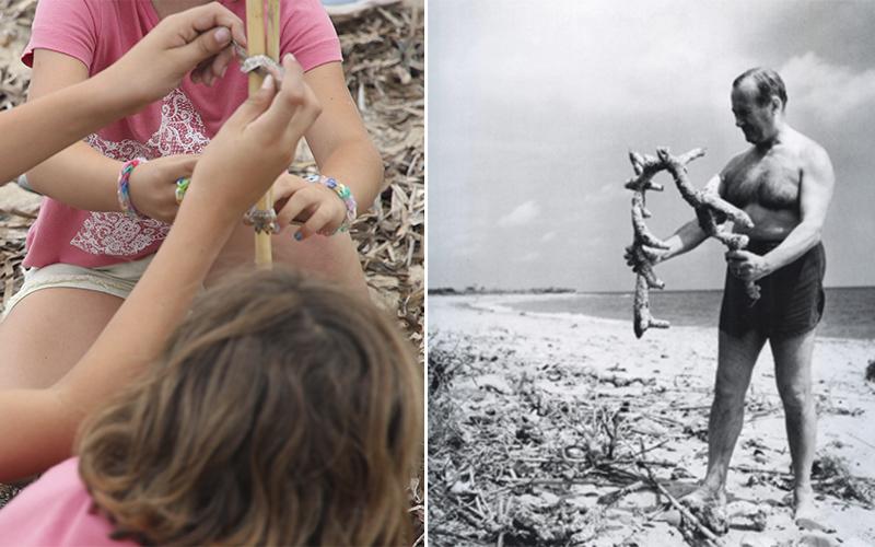 Jugamos a ser Miró en la playa de la Pixerota