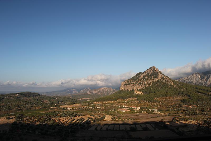 Paisaje desde el mirador en Horta de Sant Joan
