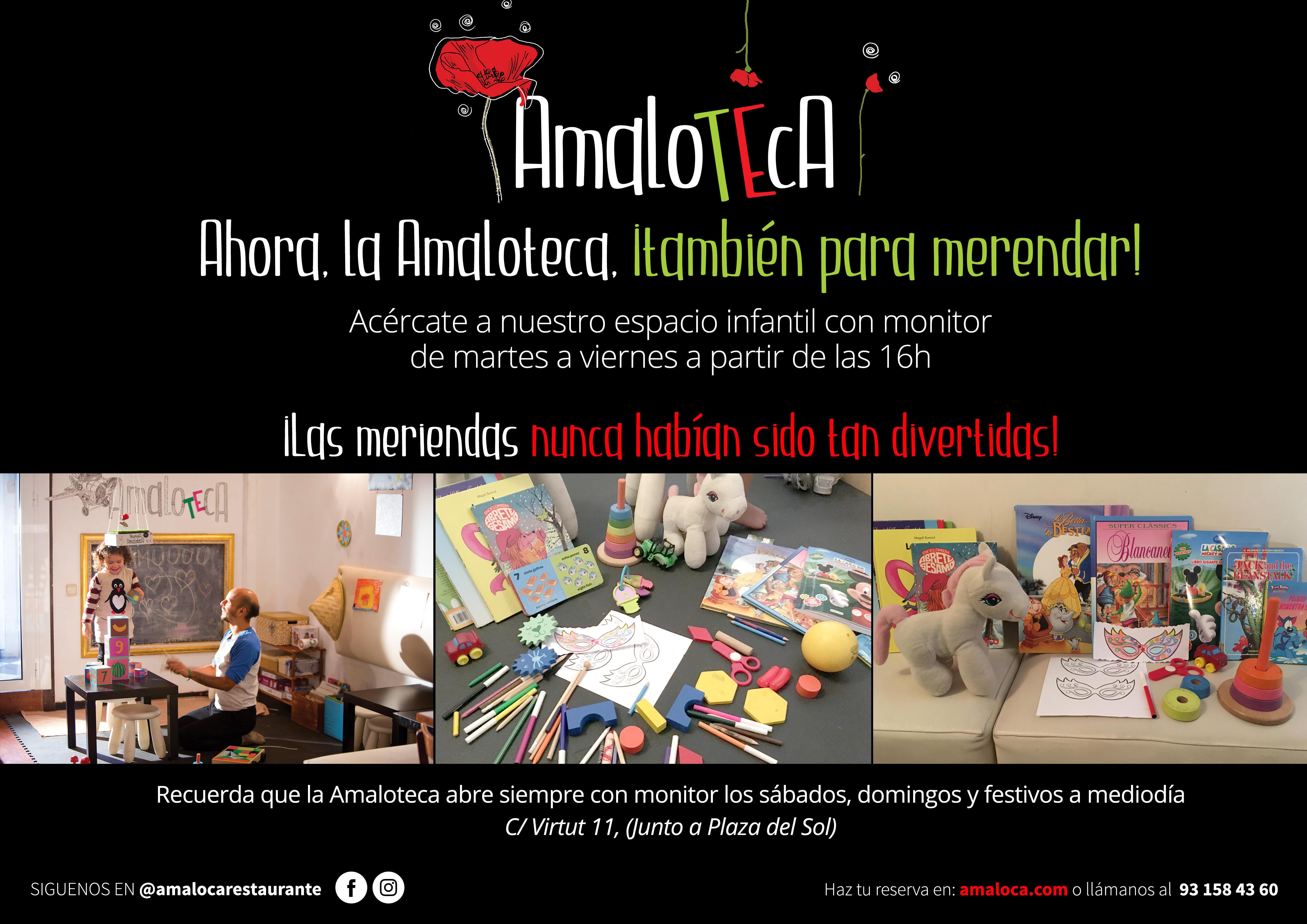 La Amaloteca, un espacio infantil con monitor de martes a domingo