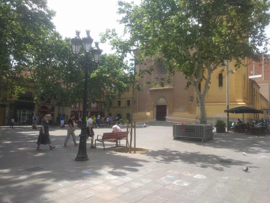 Plaça de la Concòrdia en Les Corts, Barcelona