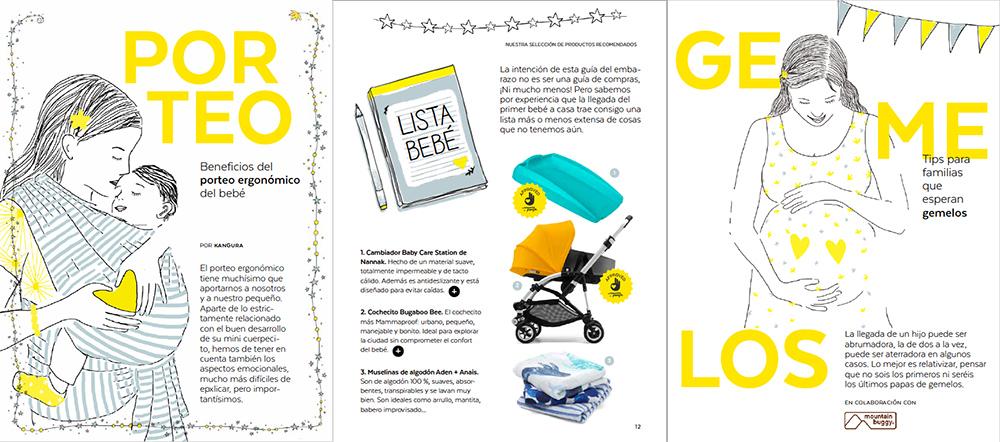 Contenidos sobre porteo, productos y gemelos Guía Mammaproof del Embarazo