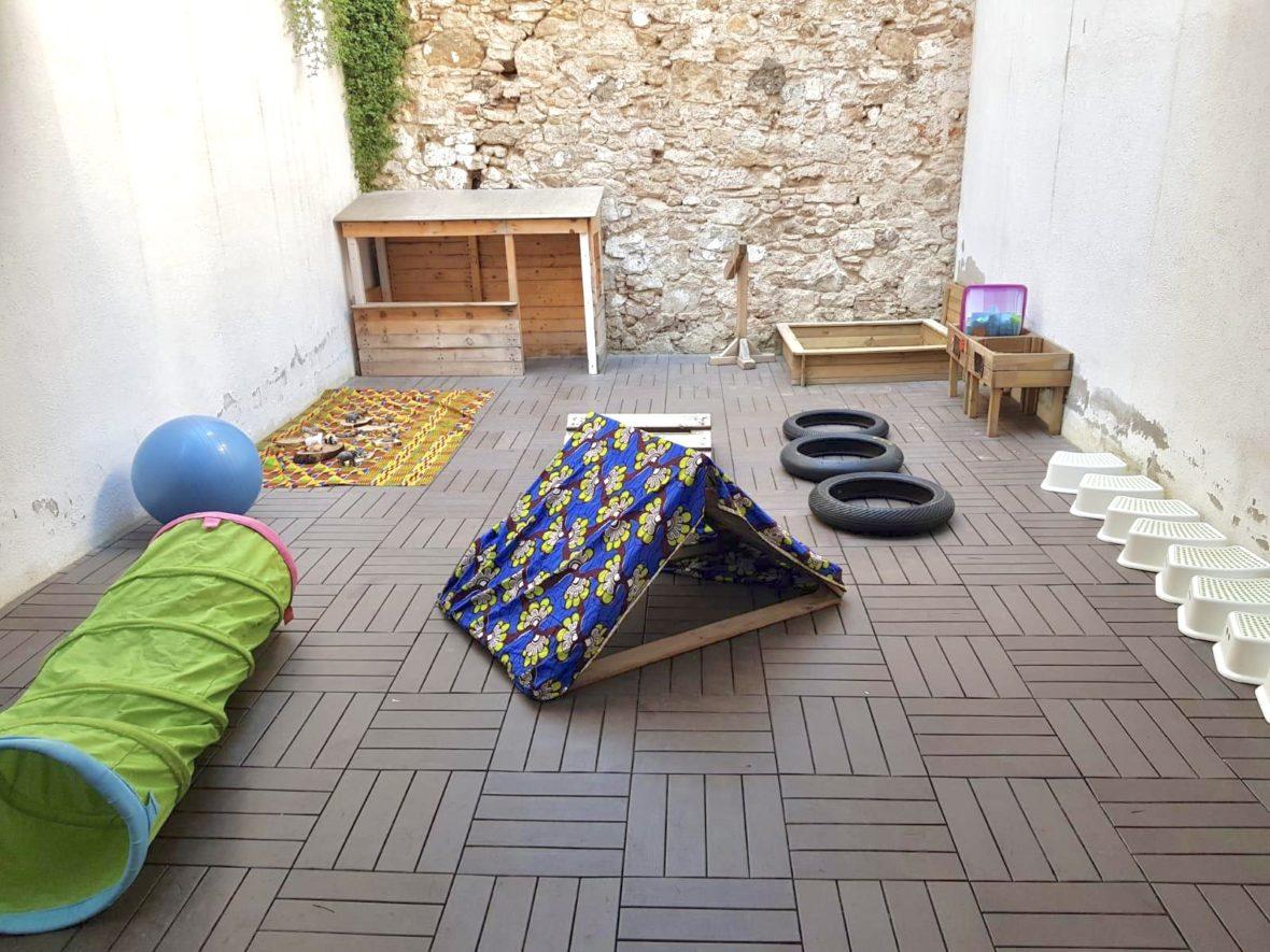 terraza en la cabana