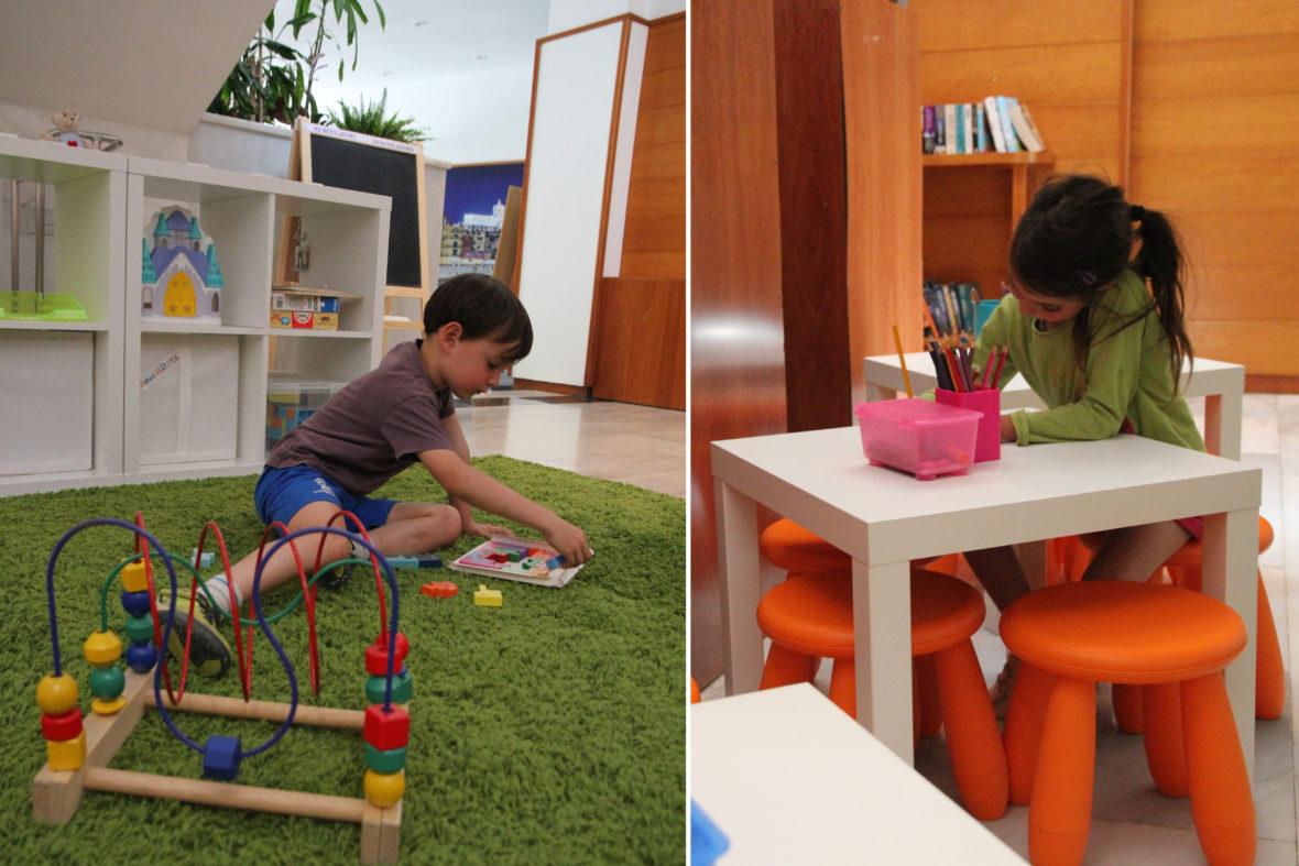 Espacio infantil recepción Aparthotel & Village Golf Beach