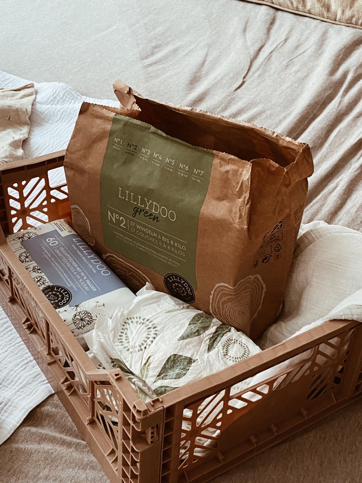 Lillydoo green caja pañales ecológicos mammaproof