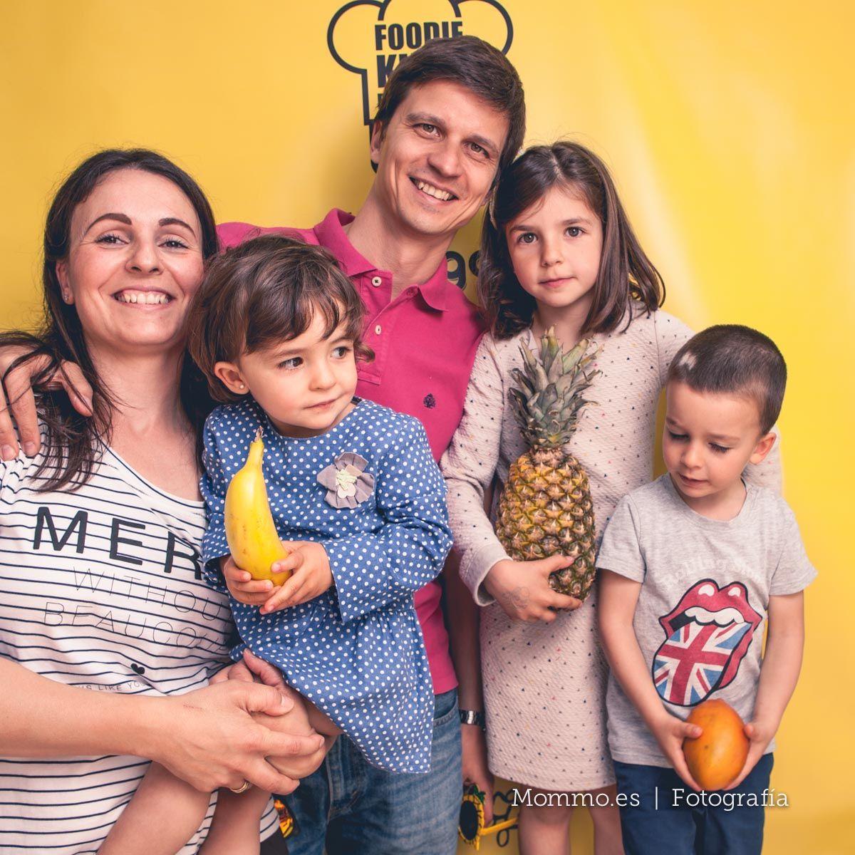 Presentación guía FoodieKids en Madrid. Familia Cristina Ferrer