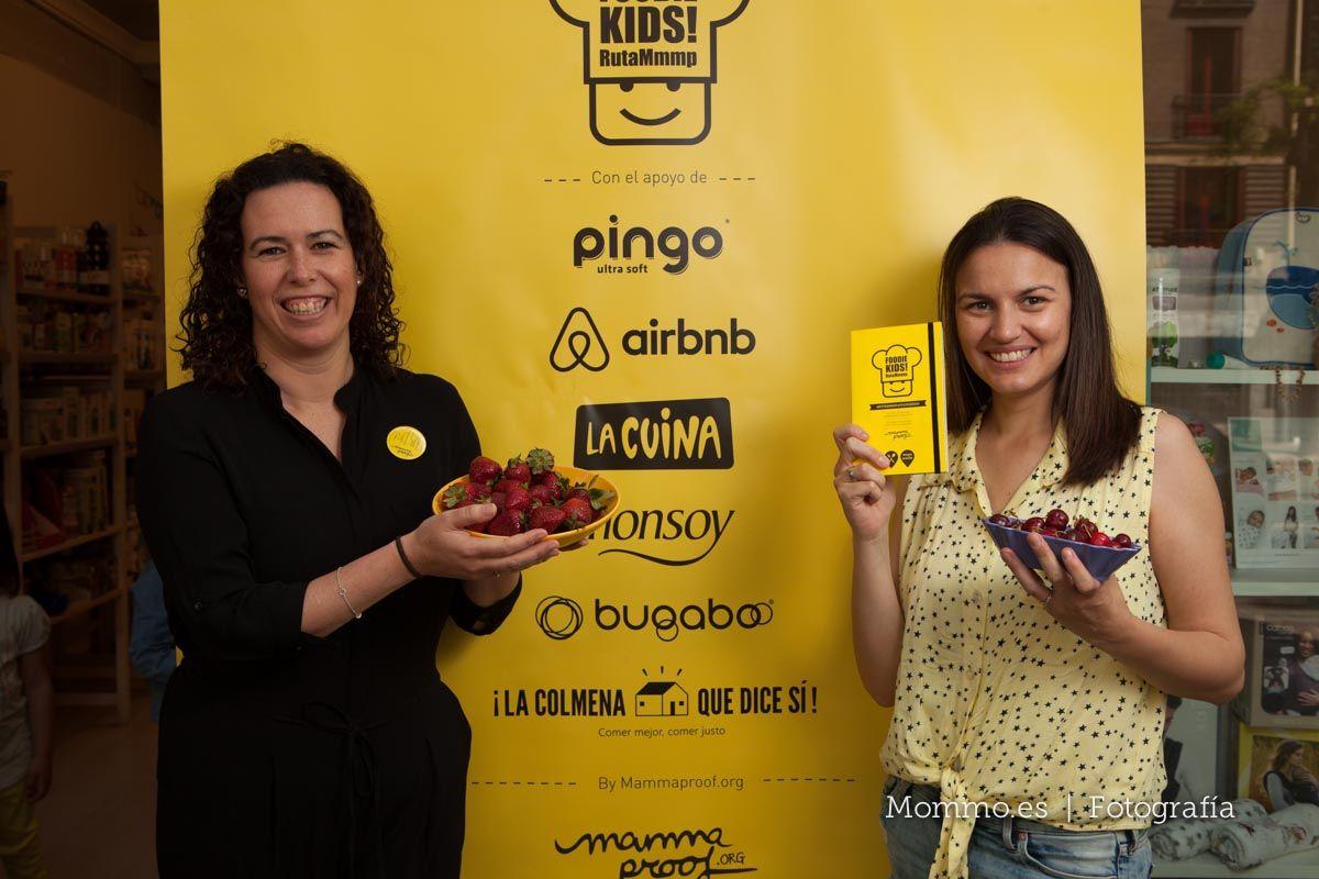 Presentación guía FoodieKids en Madrid. Carmen Quintano y Almudena Marcos