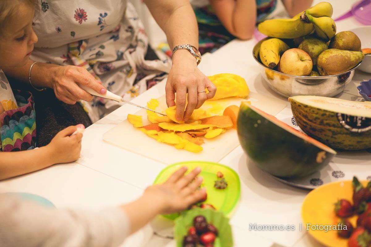 Presentación guía FoodieKids en Madrid. Taller de smoothies