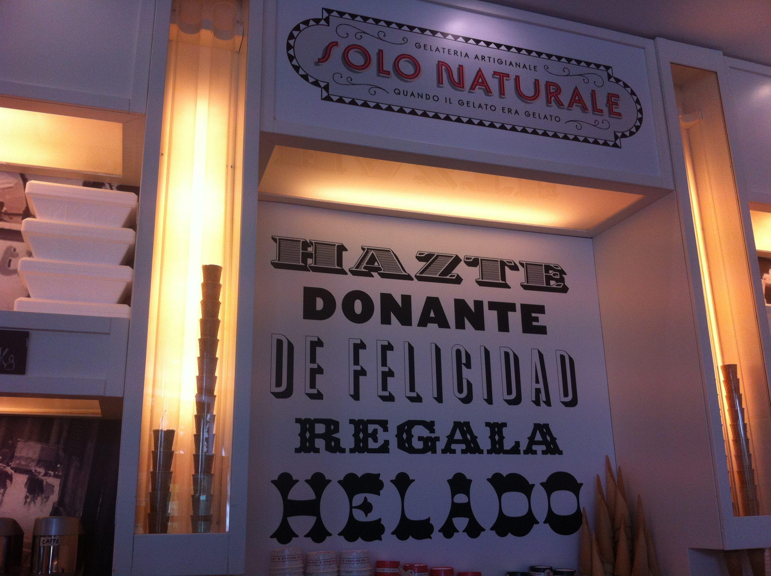 SoloNaturale, heladería en Alcobendas