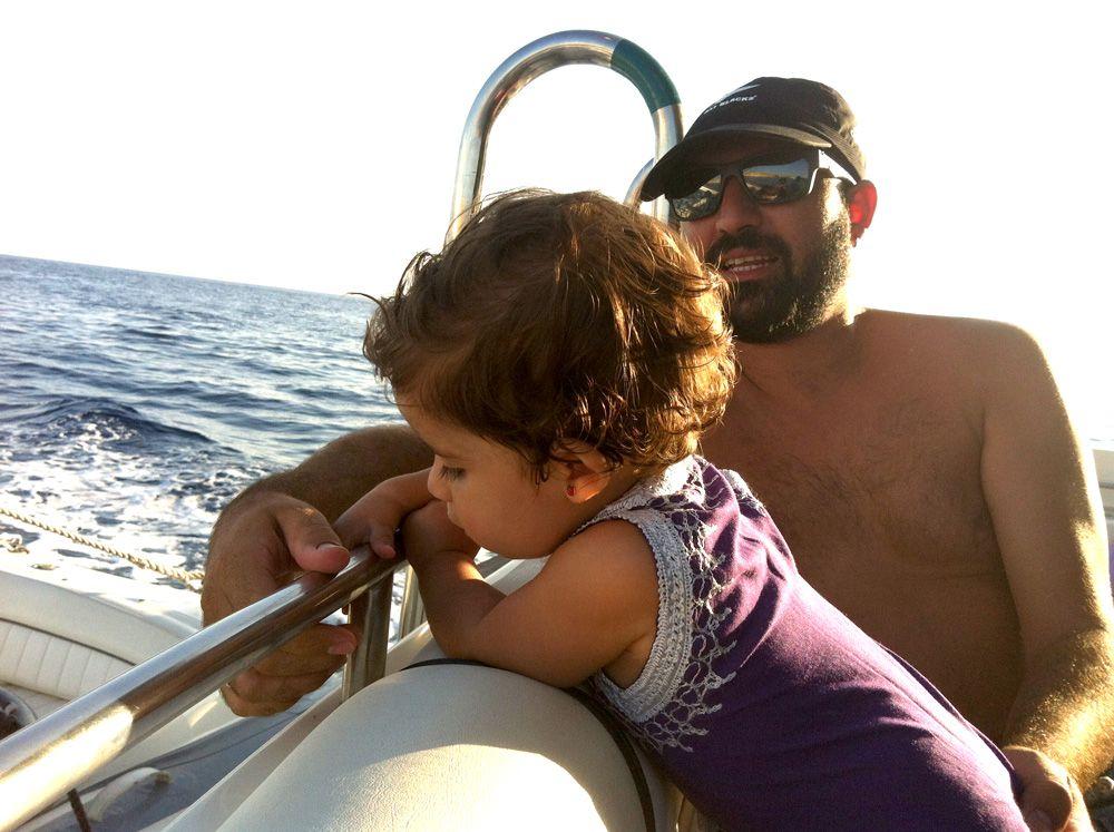 IIbiza en barco con niños