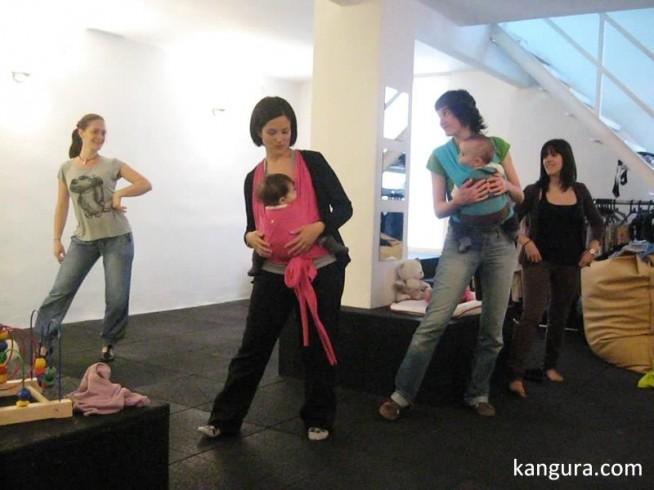 bailar con portabebés