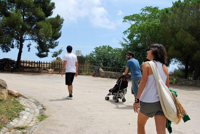 Caseta Migdia llegada tribu La Caseta del Migdia: barbacoa, bosque y vistas al mar sin salir de Barcelona