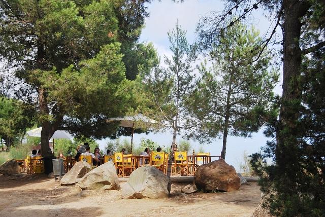 Caseta Migdia mesas La Caseta del Migdia: barbacoa, bosque y vistas al mar sin salir de Barcelona