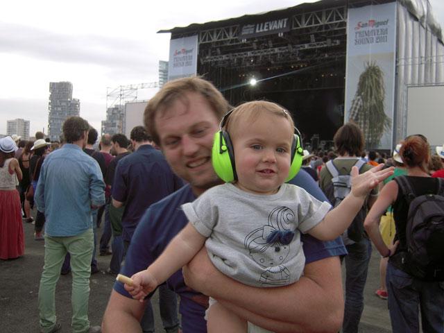 concierto en brazos de papá