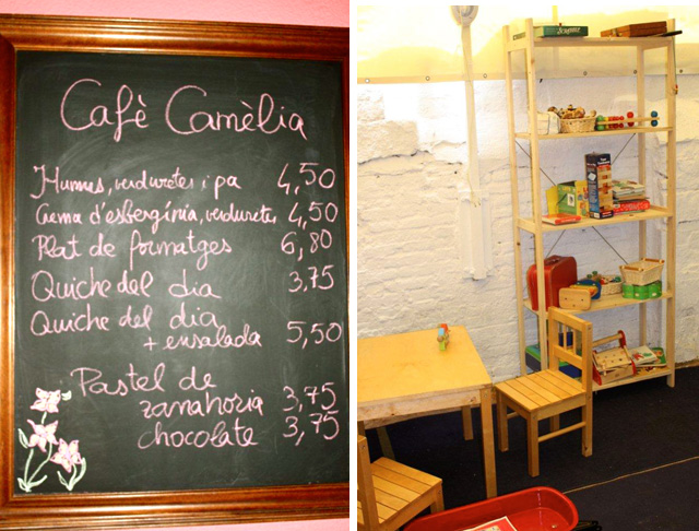 carta01 Café Camèlia: patio y juegos en plena calle Verdi