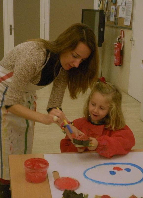 Sophia y mamá en el Thyssen
