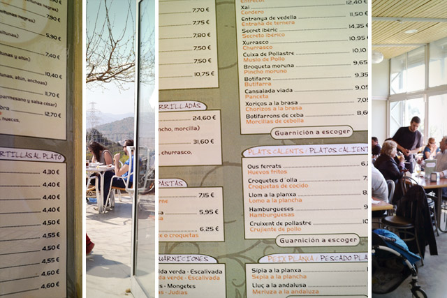 carta restaurante plaça mireia