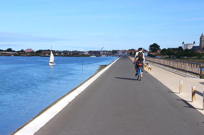 en bici en Noirmoutier