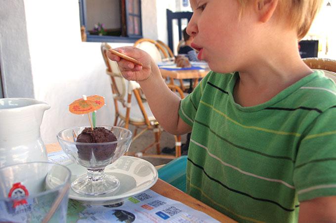 helado chocolate