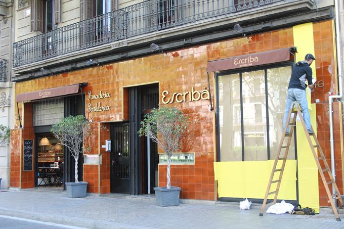 fachada pastelería escribà