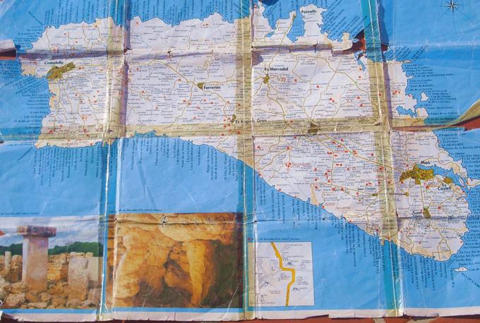 Mapa Menorca