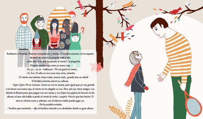 Miranda y el viento, escrito e ilustrado por Estíbaliz Hernández (Píntameldía)