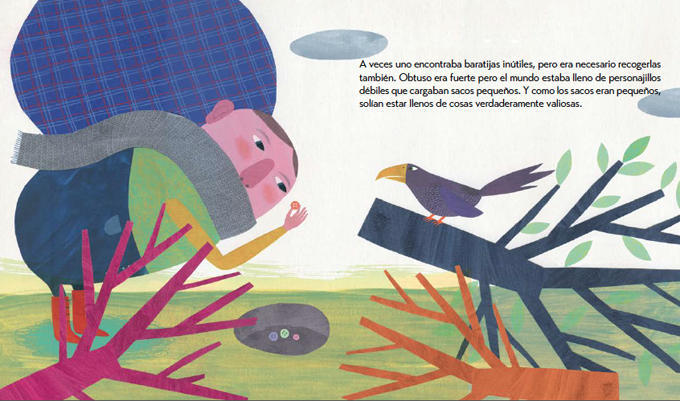 Obtuso pertinaz, escrito por Elena Ferro e ilustrado por Mariona Cabassa.