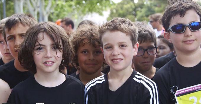 niños preparados para la carrera