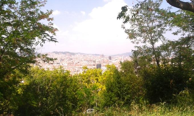 Jardins Brossa. Vista desde la tirolina