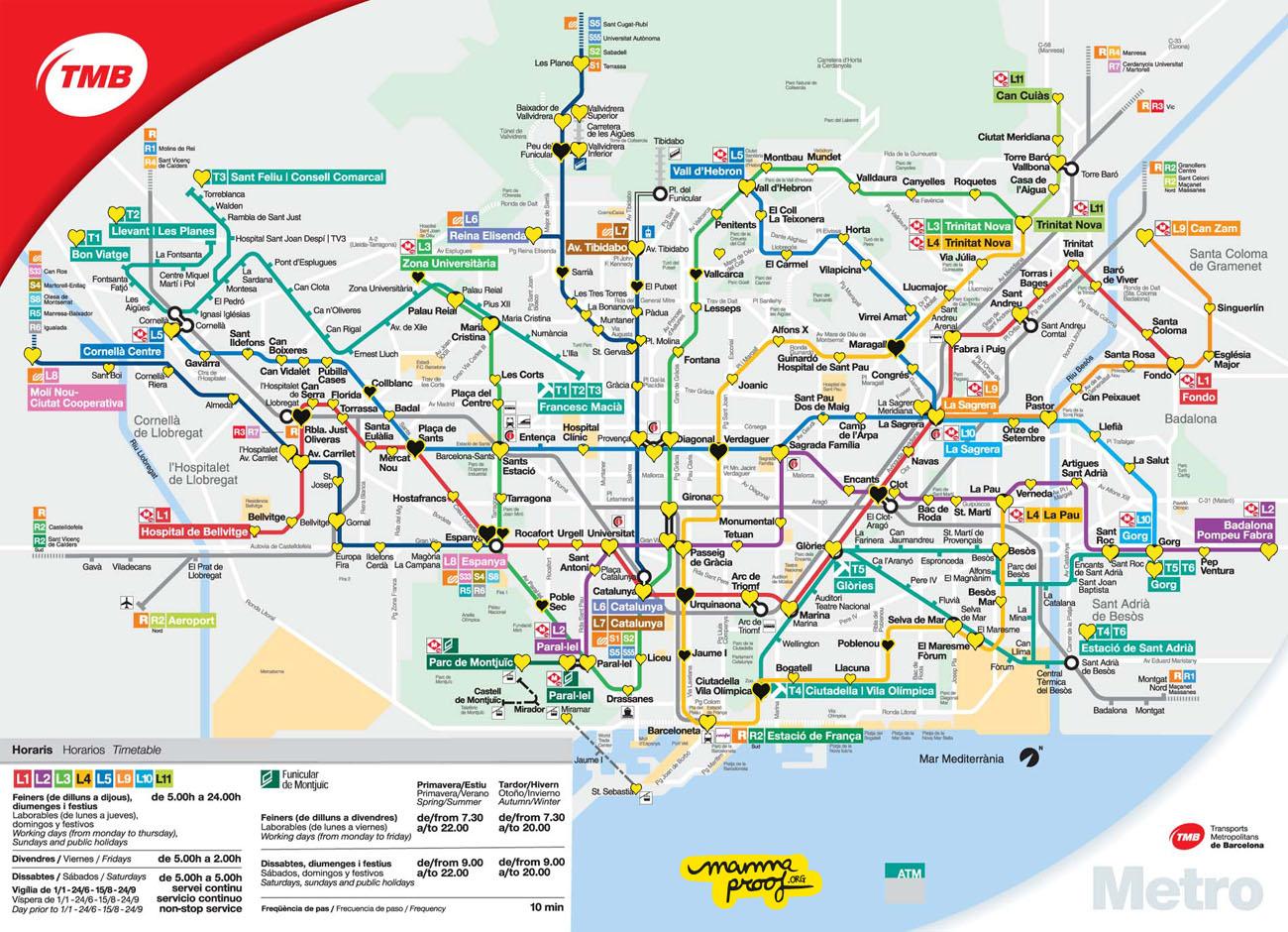 Ascensores En El Metro De Barcelona Mapa Mammaproof