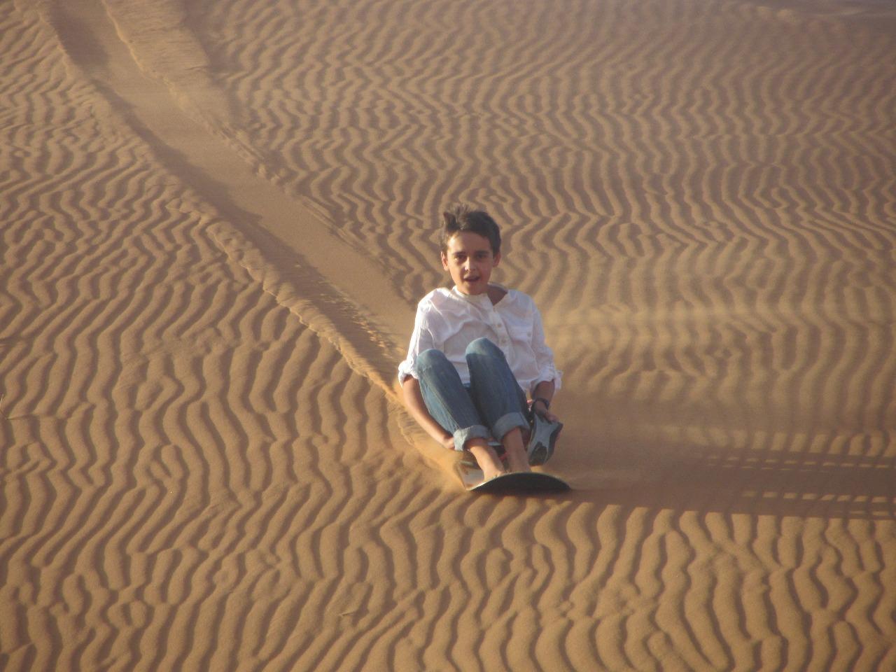 viajar con ninos desierto