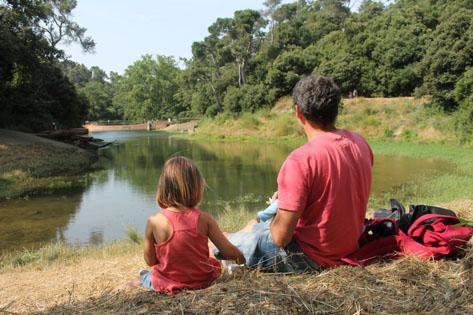 Excursiones con niños cerca de Barcelona -pantano vallvidrera