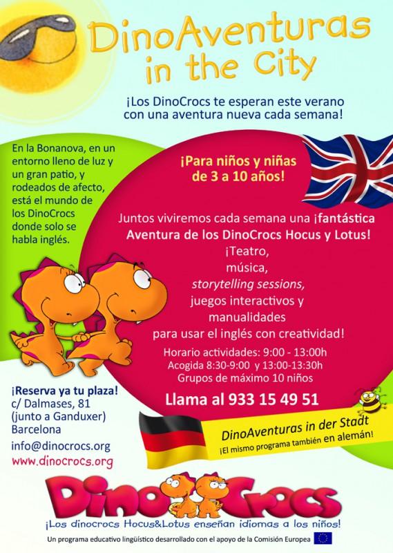 DinoAventuras in the city 2015_Letrero DinA4_ESP