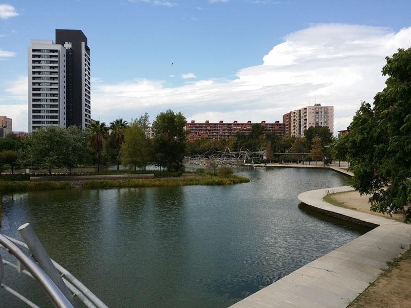 lago parque diagonal mar