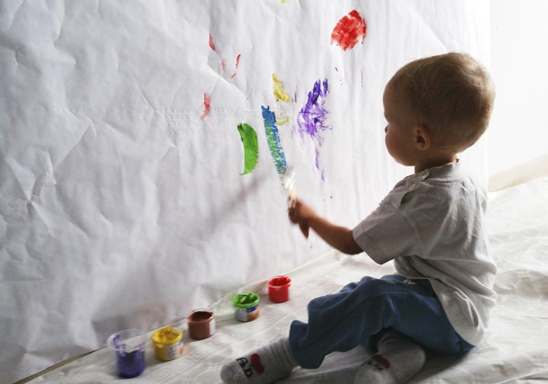 Actividad con pintura 2 mammaproof