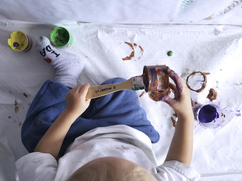 Actividad con pintura 4 mammaproof