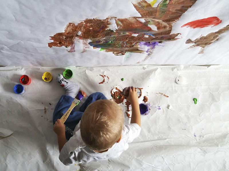 Actividad con pintura 8 mammaproof