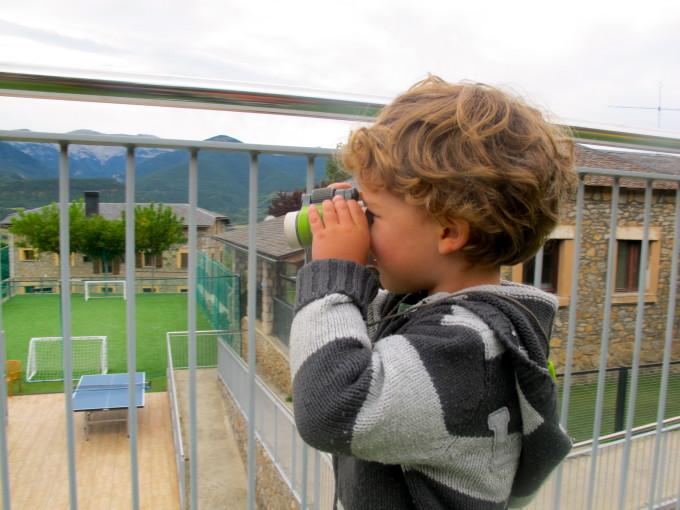 Admirando las vistas