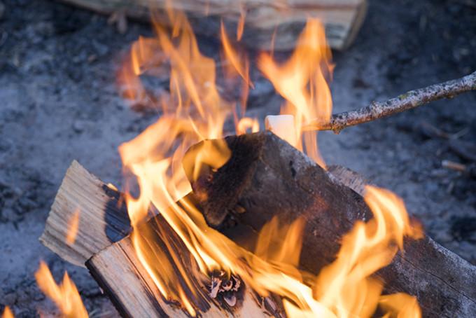 Fuego para caldear el ambiente
